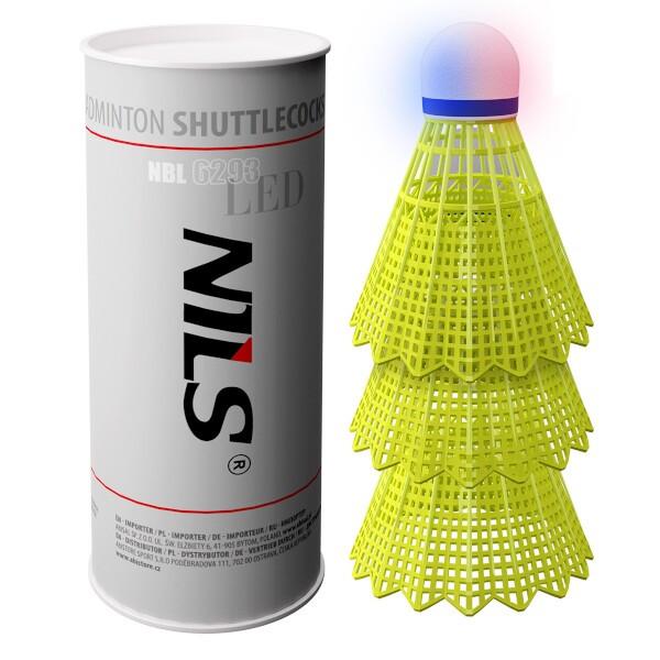 Badmintonové míčky NILS NBL6293 s LED 3 ks
