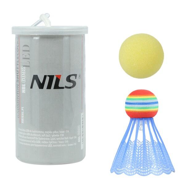 Badmintonový a pěnový míček NILS NBL6092