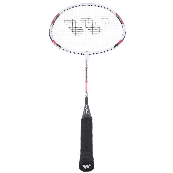 Badmintonová raketa WISH Steeltec 9, červená